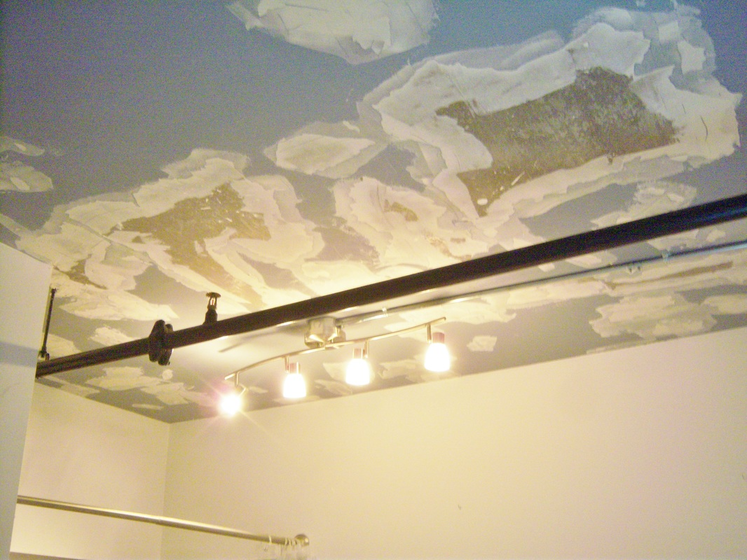 Picture of a peeling ceiling
