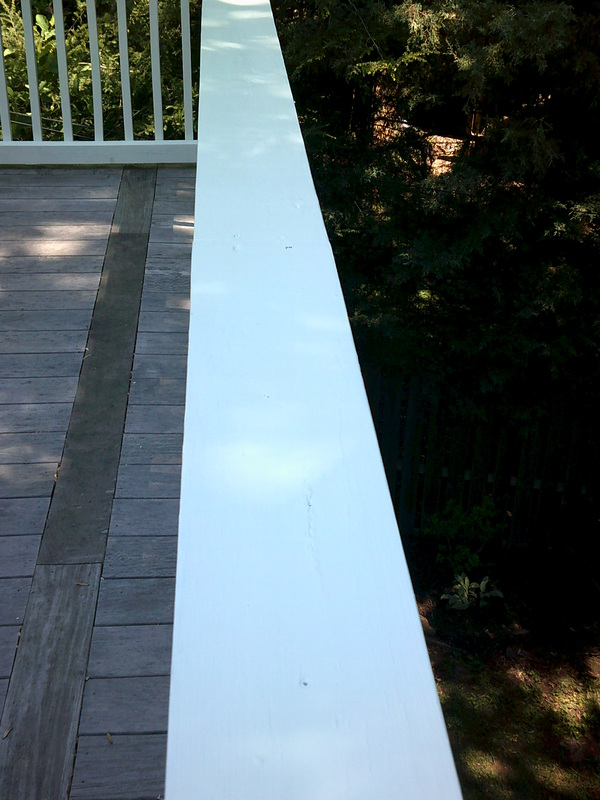 Picture of a painted railing.