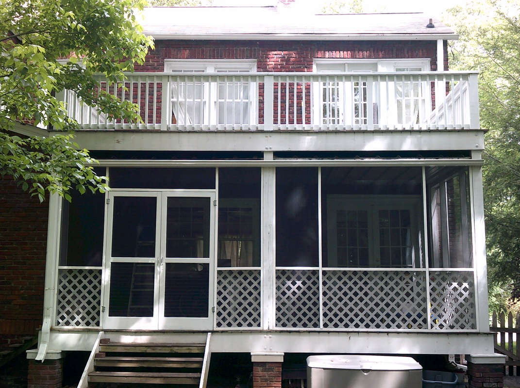 Picture of the repainted porch