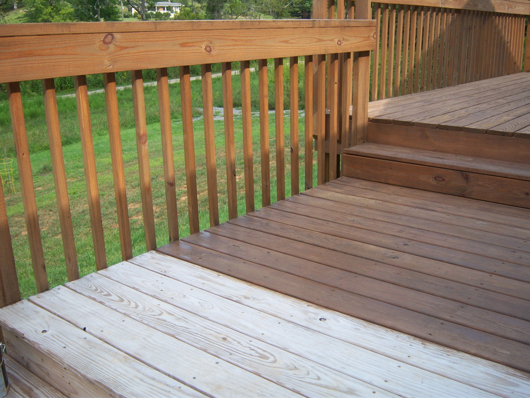 Deck staining project