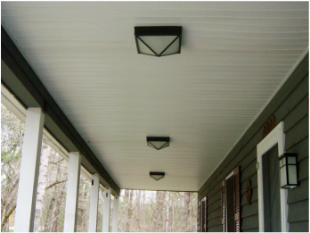 Updating porch light fixtures