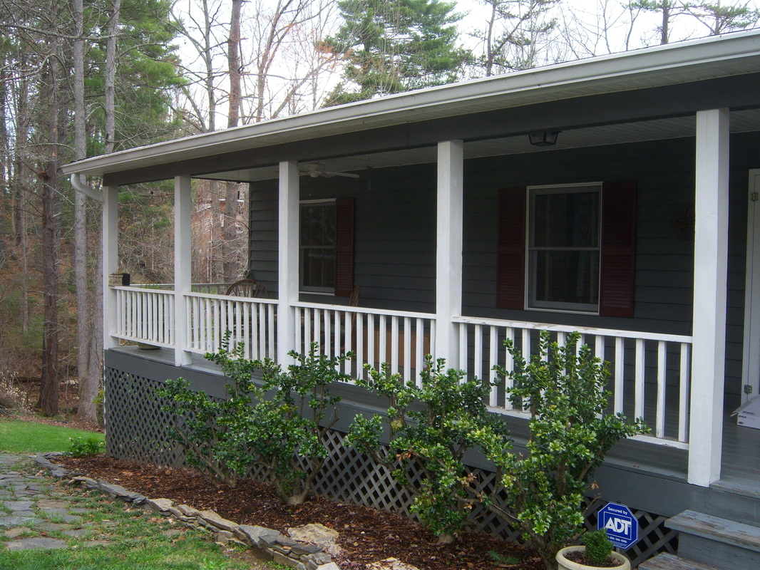 Replace old porch railing