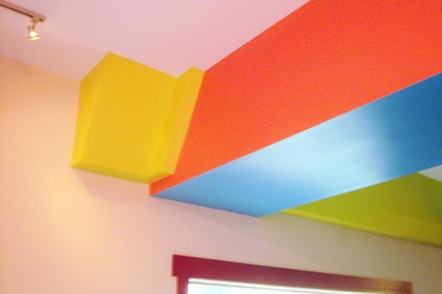 Colorful interior paint job for one of my Asheville clients.Picture
