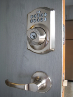 Picture of a push button lock